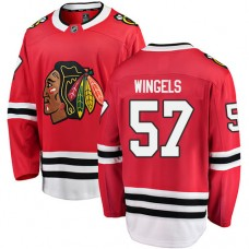 Youth Chicago Blackhawks #57 Tommy Wingels Red Home Fanatics Branded Breakaway Authentic Jersey