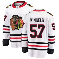 Youth Chicago Blackhawks #57 Tommy Wingels White Away Fanatics Branded Breakaway Authentic Jersey