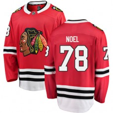 Youth Chicago Blackhawks #78 Nathan Noel Red Home Fanatics Branded Breakaway Authentic Jersey