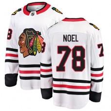 Youth Chicago Blackhawks #78 Nathan Noel White Away Fanatics Branded Breakaway Authentic Jersey