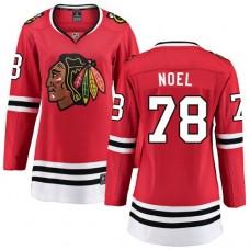 Women's Chicago Blackhawks #78 Nathan Noel Red Home Fanatics Branded Breakaway Authentic Jersey