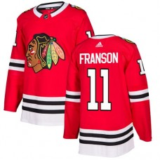 Youth Chicago Blackhawks #11 Cody Franson Home Red Authentic Jersey