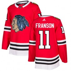 Chicago Blackhawks #11 Cody Franson Black Indians-Face Red Authentic Jersey