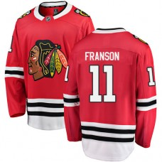 Youth Chicago Blackhawks #11 Cody Franson Red Home Fanatics Branded Breakaway Authentic Jersey