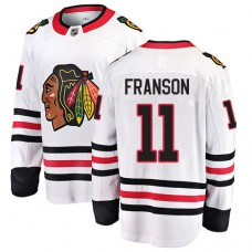 Youth Chicago Blackhawks #11 Cody Franson White Away Fanatics Branded Breakaway Authentic Jersey