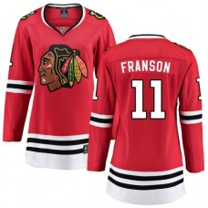 Women's Chicago Blackhawks #11 Cody Franson Red Home Fanatics Branded Breakaway Authentic Jersey