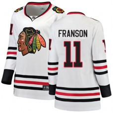 Women's Chicago Blackhawks #11 Cody Franson Away Fanatics Branded Breakaway White Authentic Jersey