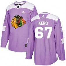 Youth Chicago Blackhawks #67 Tanner Kero Fights Cancer Practice Purple Authentic Jersey