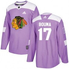 Youth Chicago Blackhawks #17 Lance Bouma Fights Cancer Practice Purple Authentic Jersey