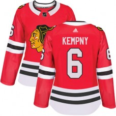 Women's Chicago Blackhawks #6 Michal Kempny Home Red Authentic Jersey