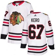 Women's Chicago Blackhawks #67 Tanner Kero Away White Authentic Jersey