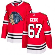 Chicago Blackhawks #67 Tanner Kero Black Indians-Face Red Authentic Jersey