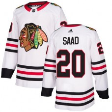 Youth Chicago Blackhawks #20 Brandon Saad Away White Authentic Jersey