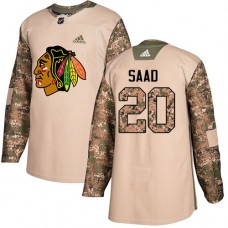 Youth Chicago Blackhawks #20 Brandon Saad Veterans Day Practice Camo Authentic Jersey