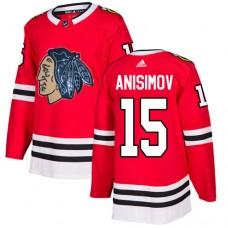 Chicago Blackhawks #15 Artem Anisimov Black Indians-Face Red Authentic Jersey