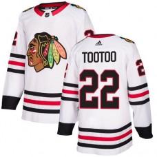 Women's Chicago Blackhawks #22 Jordin Tootoo Away White Authentic Jersey