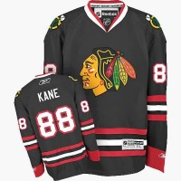 Chicago Blackhawks #88 Patrick Kane Authentic Black Third Reebok Jersey