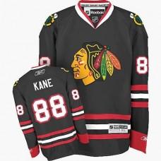 Chicago Blackhawks #88 Patrick Kane Authentic Black Third Reebok Jersey