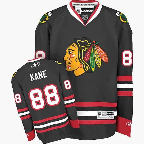 946bad69c Chicago Blackhawks #88 Patrick Kane Authentic Black Third Reebok Jersey