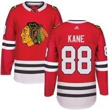 Kid's Chicago Blackhawks #88 Patrick Kane Authentic Red Home Adidas Jersey
