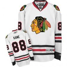 Kid's Chicago Blackhawks #88 Patrick Kane Authentic White Away Reebok Jersey