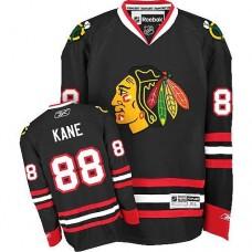 Kid's Chicago Blackhawks #88 Patrick Kane Authentic Black Third Reebok Jersey