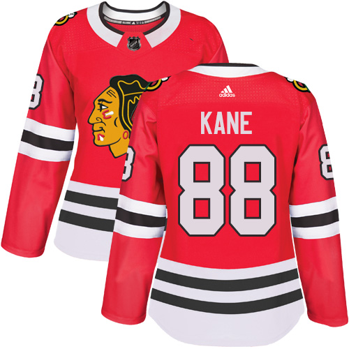 Women's Chicago Blackhawks #88 Patrick Kane Authentic Red Home Adidas Jersey