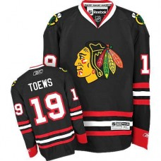 Chicago Blackhawks #19 Jonathan Toews Authentic Black Third Reebok Jersey