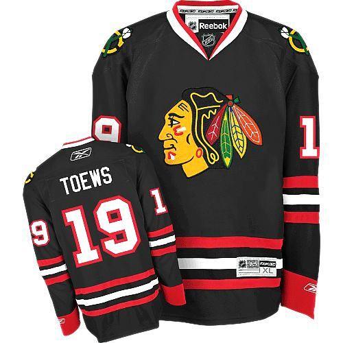 Chicago Blackhawks #19 Jonathan Toews Premier Black Third Reebok Jersey