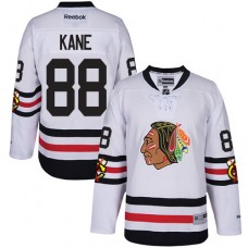Kid's Chicago Blackhawks #88 Patrick Kane Authentic White 2017 Winter Classic Reebok Jersey