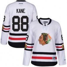 Women's Chicago Blackhawks #88 Patrick Kane Authentic White 2017 Winter Classic Reebok Jersey
