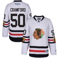 Chicago Blackhawks #50 Corey Crawford Authentic White 2017 Winter Classic Reebok Jersey