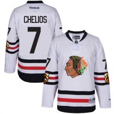 Chicago Blackhawks #7 Chris Chelios Authentic White 2017 Winter Classic Reebok Jersey