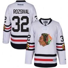 Chicago Blackhawks #32 Michal Rozsival Authentic White 2017 Winter Classic Reebok Jersey