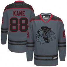 Chicago Blackhawks #88 Patrick Kane Authentic Charcoal Cross Check Fashion Reebok Jersey