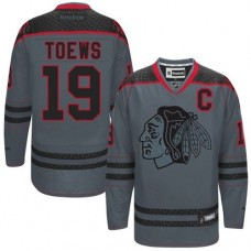 Chicago Blackhawks #19 Jonathan Toews Authentic Charcoal Cross Check Fashion Reebok Jersey