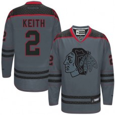 Chicago Blackhawks #2 Duncan Keith Authentic Charcoal Cross Check Fashion Reebok Jersey