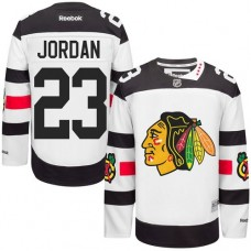 Chicago Blackhawks #23 Michael Jordan Authentic White 2016 Stadium Series Reebok Jersey