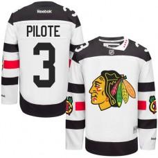 Chicago Blackhawks #3 Pierre Pilote Authentic White 2016 Stadium Series Reebok Jersey