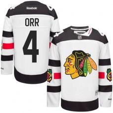 Chicago Blackhawks #4 Bobby Orr Authentic White 2016 Stadium Series Reebok Jersey