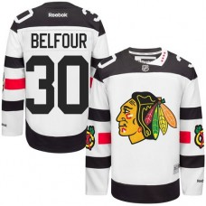 Chicago Blackhawks #30 ED Belfour Authentic White 2016 Stadium Series Reebok Jersey