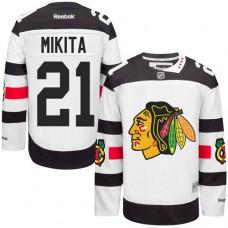 Chicago Blackhawks #21 Stan Mikita Authentic White 2016 Stadium Series Reebok Jersey