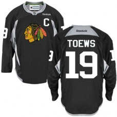Chicago Blackhawks #19 Jonathan Toews Authentic Black Practice Reebok Jersey