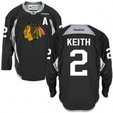 Chicago Blackhawks #2 Duncan Keith Authentic Black Practice Reebok Jersey