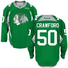 Chicago Blackhawks #50 Corey Crawford Authentic Green Practice Reebok Jersey