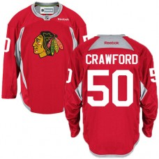 Chicago Blackhawks #50 Corey Crawford Authentic Red Practice Reebok Jersey