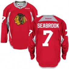 Chicago Blackhawks #7 Brent Seabrook Authentic Red Practice Reebok Jersey