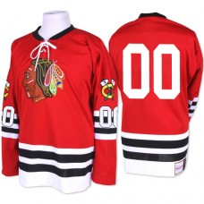 Chicago Blackhawks #00 Clark Griswold Premier Red Mitchell and Ness 1960-61 Throwback Jersey