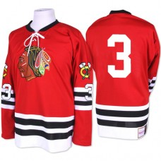Chicago Blackhawks #3 Keith Magnuson Authentic Red Mitchell and Ness 1960-61 Throwback Jersey