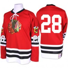 Chicago Blackhawks #28 Steve Larmer Authentic Red Mitchell and Ness 1960-61 Throwback Jersey